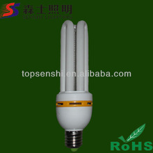 Hot sale!! Plastic housing 3U energy saving light bulb E27