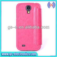 For Samsung Galaxy S4 - Popular full covered flip PU leather case for Samsung Galaxy S4 i9500