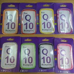 dual color TPU bumper case for blackberry Q10