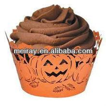 smile pumpkin laser cut cake decorating laser cut cupcake wrappers halloween favors