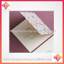 Elegant high end deep red flower paper gift card