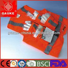 FDA CE ISO 2013 Gauke original design four pockets high visibility reflective safety vest/coat/jacket