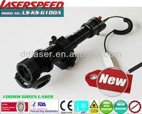 tactical subzero long gun mounted 100mw GREEN LASER DESIGNATOR police items
