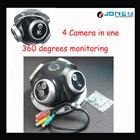 4 camera in one monitoring 360 degree cctv camera