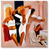 happy girls painting