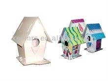 birdhouse paper foldable 3D toys pattern