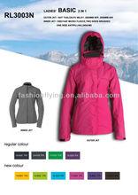 Women winter 2 in 1 waterproof jacket clothing wholesale(RL3003N)