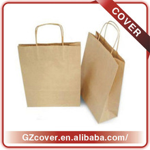 blank kraft paper bag handling