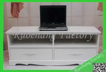 Practical white modern lcd tv cabinet model
