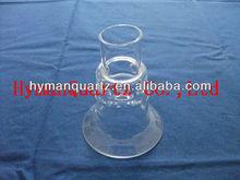 quartz glass jacket with flange, quartz glass tank with connection, quartz glass bottle