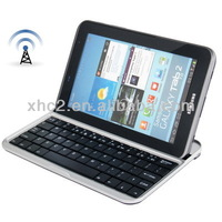 Hot sell Bluetooth 3.0 Wireless Aluminum Keyboard Protective Case for Samsung Galaxy Tab 7.0 Plus P6200 Galaxy Tab 2 7.0 / P3100