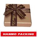 luxo de papel de grande formato quadrado chocolate caixa de presente para fazer