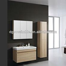 MDF Bathroom Cabinet melamine inside,MDF bathroom cabinet painting inside