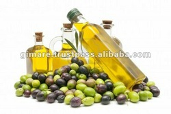 Virgin Olive Oil in glass bottles