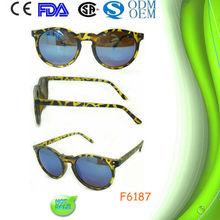 f6187 bleu miroir lunettes de soleil et lunettes de soleil avec revo lunettes bon marché de vélo jaune