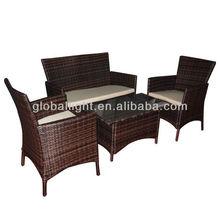 4 pieces Outdoor Rattan Sofa Set outdoor furniture