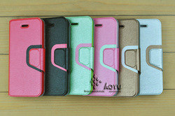 Wallet leather phone cover for iphone 5 high quality with mixed color no MOQ