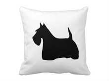 Cotton Scottish Terrier Dog silhouette Cushion Covers customized throw Pillows case