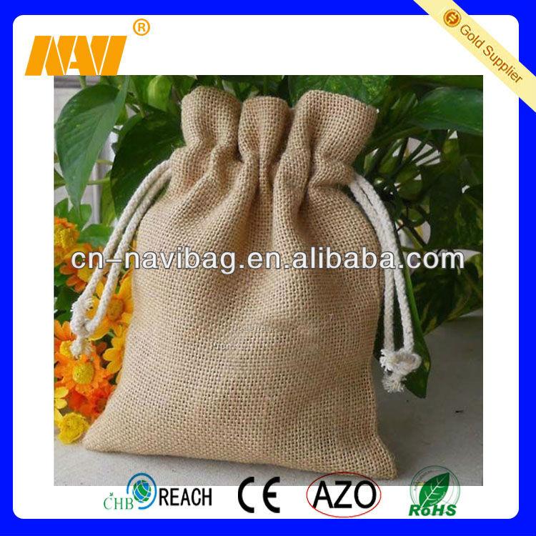 wholesale small jute bags drawstring(NV-J063)