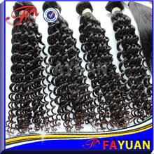 100% human hair virgin afro kinky curl two tone brazilian hair weft