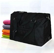 hot sale unsex plain simple design customized logo black canvas travel bag with cheap price