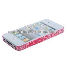 custom mobile phone hard case flower case for iphone 4s