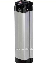 Silver fish style LiFePo4 36V 10Ah electric bike battery,36V 10Ah li ion battery for electric bike conversion kit
