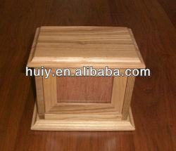 wooden pet casket for ashes
