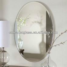Promotion ovale biseaut miroir sans cadre achats en for Miroir biseaute sans cadre