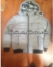 100% poliéster mens jaquetas preenchimento com capuz