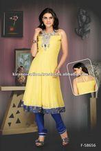 Double color Punjabi Salwar Kameez