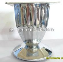 MG8803 Chrome plated steel modern vertical stripes table feet hot sale