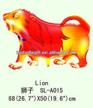 Lovely Lion shape mylar balloon,animal shape foil balloon/helium balloon/mylar balloon