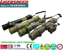 GREEN LASER DESIGNATOR/subzero weapon mounted 50mw GREEN LASER weapon illuminator