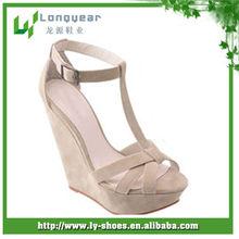 latest summer lady wedge heels sandals 2014,platform chunky wedge heel sandals