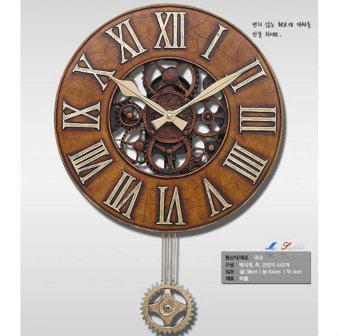 Reloj de pared antiguo con p ndulo por en corea del sur for Relojes de pared antiguos de pendulo