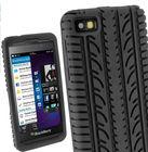 Black Silicone Tyre Skin for BlackBerry Z10 BB 10 Case Cover Holder Shell