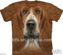 Exclusive 3D Cotton T shirts! 100% Digital Allover Printing animal 3D t shirts