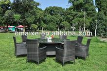 aluminium frame hand-woven competitive price PE rattan garden furniture dinning series