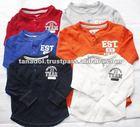 Sell cute colourful children's boys long t-shirt 2012
