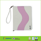 for ipad case zipper stand leather tablet case