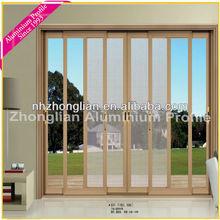 HOT! Hanging Screen aluminium frame Sliding glass Door for Luxury Villa/apartment/house/stars hotels/lliving room/commercial