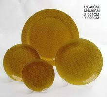 Decorative amber glass plate