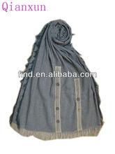 women winter solid color modern scarf shawl