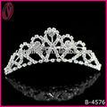 2013 venda quente de metal strass tiara de princesa da coroa para a festa