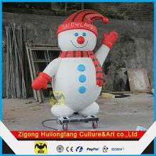 Christmas sculpture decoration fiberglass Snow man