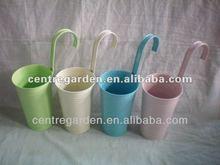 Home hanging metal powder coated plant planter pot