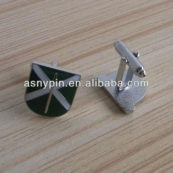 epoxy metal enamel cuff links
