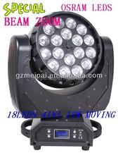 18*4in1 10w mini beam zoom pro dj equipment