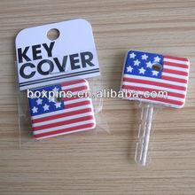USA /US flag pvc key cover wholesale